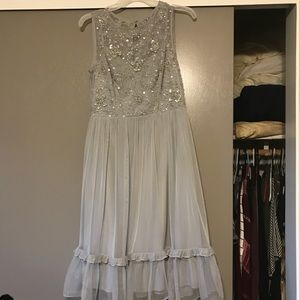 Adrianna Papell embellished tulle dress